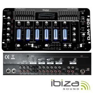 "Ibiza Sound DJM102-SB Mesa de Mistura 19"" 6 Canais"