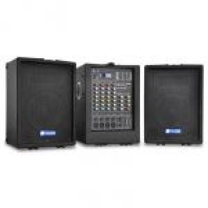 Sistema de Som Portátil PA-100USB 2x 300W USB/SD MP3 - SKYTEC