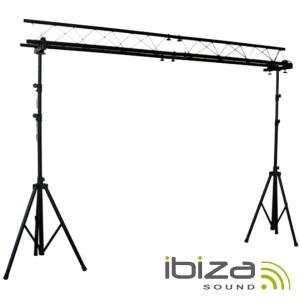 Ibiza Suporte iluminação barra transversal com tripés 3m
