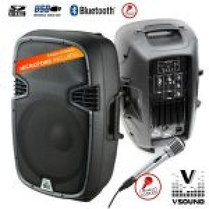 "VSound COLUNA AMPLIFICADA 12"" 400W  VSSE12BT-M"