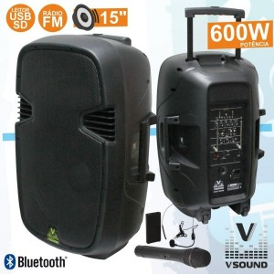"Vsound VSSE15 Coluna ABS 15"" 800W"
