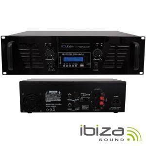 Ibiza Amplificador Áudio 2x800w Usb/b