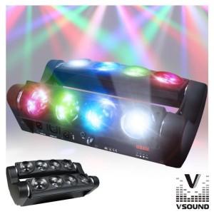 Vsound Projector Luz C/ 8 Leds 10W Cree Rgbw Dmx VSPROJ810RGBW