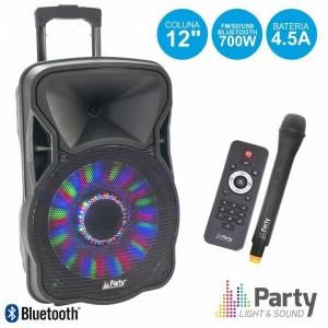 "Party Light Coluna Amplif. 12"" 700w party-12 led"