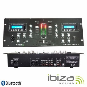 Ibiza Mesa de Mistura DJM250BT-MKII Black