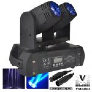 Moving Head Duplo 2 LEDS 12W Duplo DMX LEDMV210RGBW