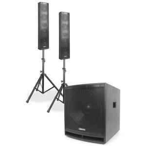 Sistema Som Bi-Amplificado  1000W (VX880BT 2.1) - VONYX