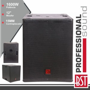 "BST Grave Subwoofer Passivo Pro 12"" 1600W 15MM Mdf FIRST-SP12S"
