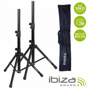 Ibiza Conjunto 2 Suportes P/ Colunas C/ Bolsa 1.2m 30kg