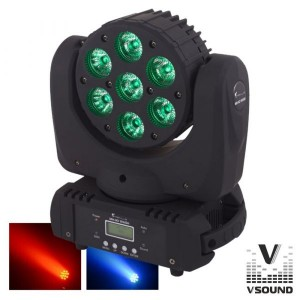 Vsound Moving Head Profissional 7 Leds  Dmx Mic LEDMVP710RGBW