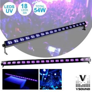 Vsound Barra Leds Uv C/ 18 Leds Uv 3w e Suporte LED183UV