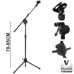 VSOUND Suporte para Microfone Profissional TRIPEMIC02A