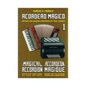 """E.C. Livro de Música """"kit Acordeão Mágico 1"""" C/2 Cds"""