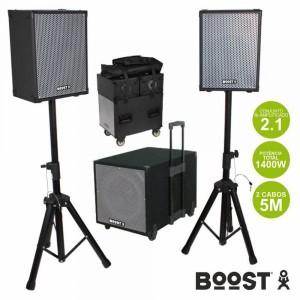 Ibiza Conjunto Som Bi-Amplificado 1400W - BOOST1208