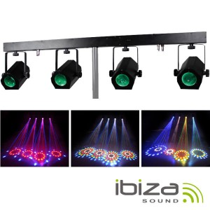 BARRA 1.2MT C/ 4 PROJECT LED RGBWA  228 LEDS IBIZA 4MOON-BAR