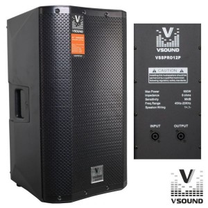 "VSound VSSPRO12P 12"" 600W Black"