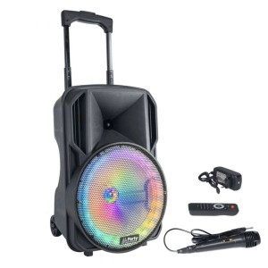 "Party Coluna Amplificada 10"" 600w Usb/bt/sd/aux/bat Black PARTY-10RGB"