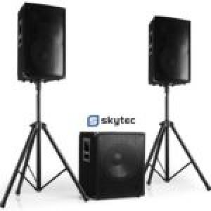 Sistema Som Bi-Amplificado 2200Wmáx - Skytec [ CUBE-1812 ]