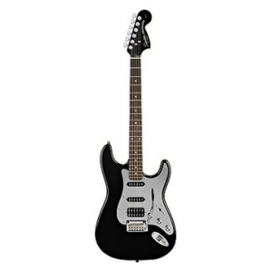 FENDER SQUIER BLACK AND CHROME FAT STRAT (SPECIAL EDITION)