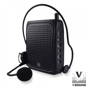 "VSound Coluna Amplificada 3"" USB/BT/FM/SD/Bat Black VSPAPORT01"