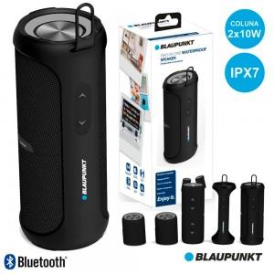 Coluna Bluetooth Portátil 2x10W Bat Mic Ipx7 Preto BLAUPUNKT