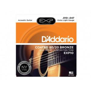 Jogo cordas 010 guit acust bronze Daddario EXP10 010-047