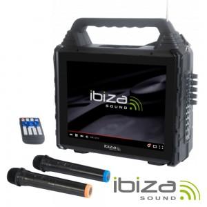 Coluna Amplificada C/ Ecrã USB/BT/SD/AUX IBIZA KARAVISION