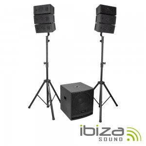 Line-Array Ativo CUBE15A-ARRAY 800W IBIZA