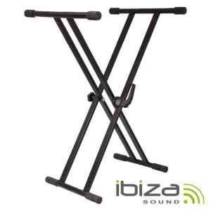 Ibiza Suporte Teclado Bloqueio Duplo 65-96cm 75kg - Sk002
