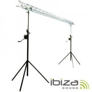 Suporte P/ Luzes 2 Barras Manivela 1.5-3m 12 Aparelhos Ibiza