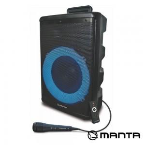 """Coluna Amp. SPK5030 8"""" USB/SD/AUX LED RGB MANTA"""