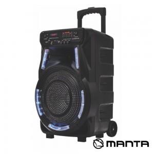 """Coluna SPK5033 12"""" USB/SD/AUX/FM/BT LED RGB MANTA"""