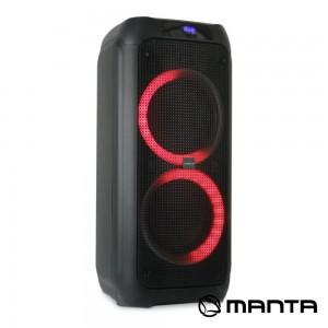 "Coluna Amp. SPK5310PRO 2x8"" USB/SD/AUX/BT LED RGB MANTA"