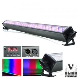 Barra LEDS C/ Strobe 240 LEDS 10mm RGB DMX VSOUND VSLEDB240RGB