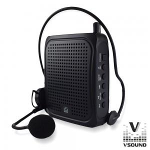 """Coluna Amp. 3"""" USB/BT/FM/SD/Bat Preto VSOUND VSPAPORT01"""