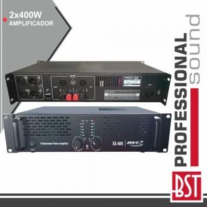 Amplificador Áudio Pro 2X400W Saída Link 4/8 Ohms